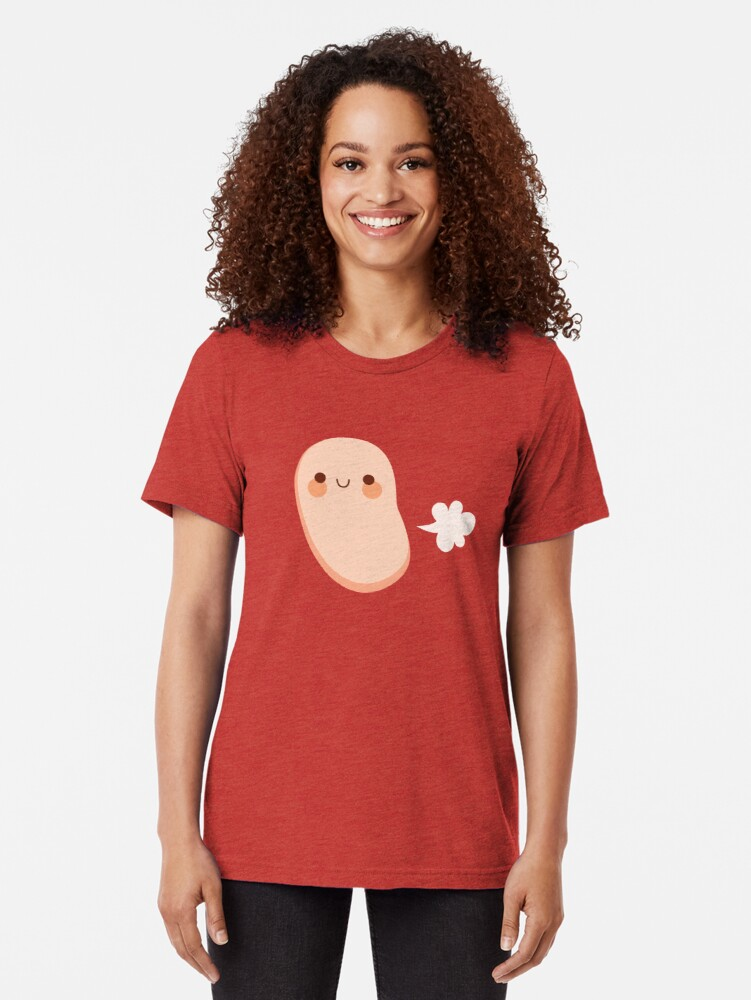 Alternate view of Baked beans farting Tri-blend T-Shirt