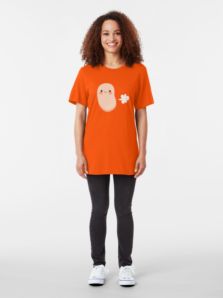Alternate view of Baked beans farting Slim Fit T-Shirt