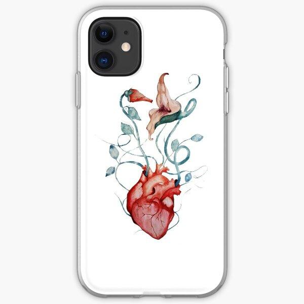 Pink Floyd Flowers   Watercolor painting   Rock fan art iPhone Soft Case
