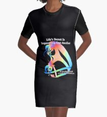 Life's Secret Is Empowering One Another Graphic T-Shirt Dress
