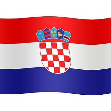 Croatian flag waving by stuwdamdorp