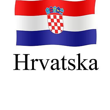 Croatian flag waving Hrvatska by stuwdamdorp