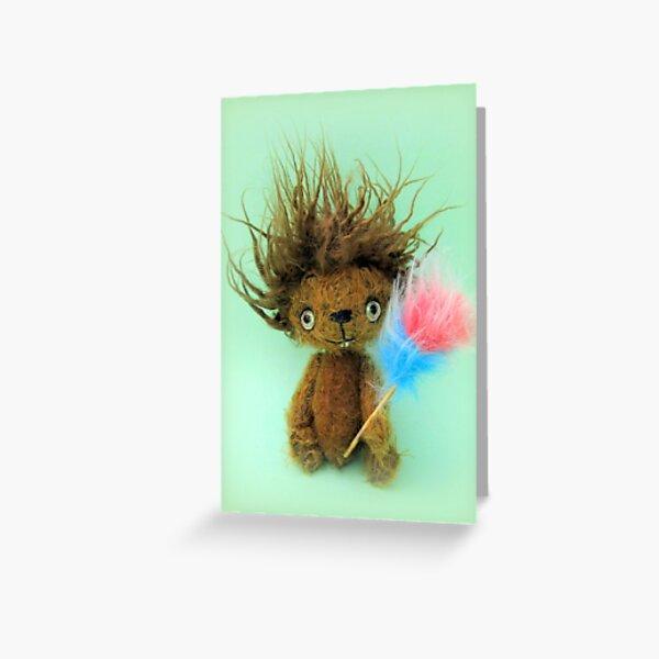 Diddy Doddy, Ken Dodd teddy bear Greeting Card