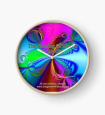 The Sharing Of My Art Is My Gift Clock
