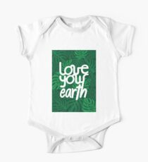 Love your Earth Short Sleeve Baby One-Piece