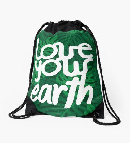 Love your Earth Drawstring Bag