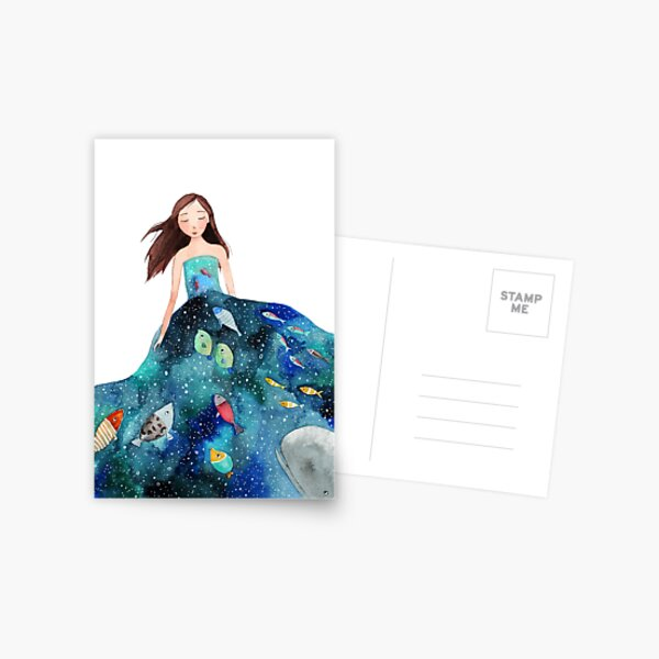 Ocean dress Postcard