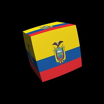 Ecuador, flag, cubed, box, bandera,  by stuwdamdorp