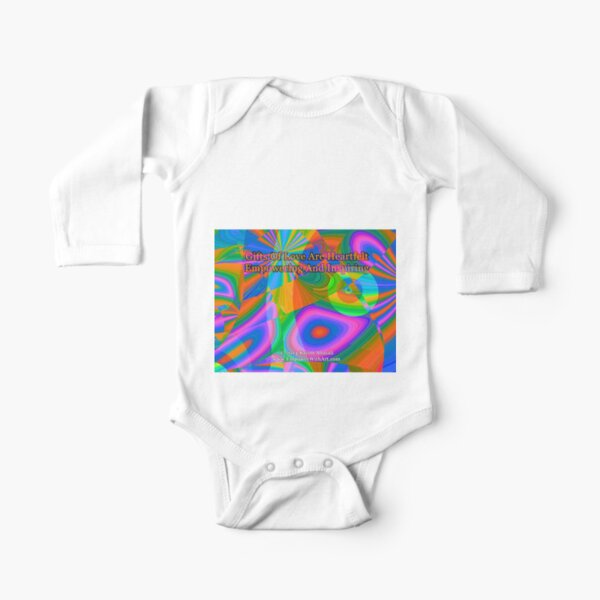 Gifts Of Love Are Heartfelt Long Sleeve Baby One-Piece