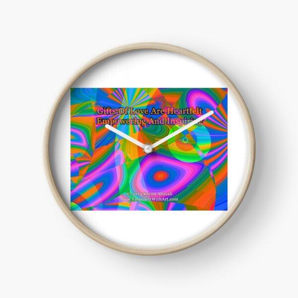 Gifts Of Love Are Heartfelt Clock