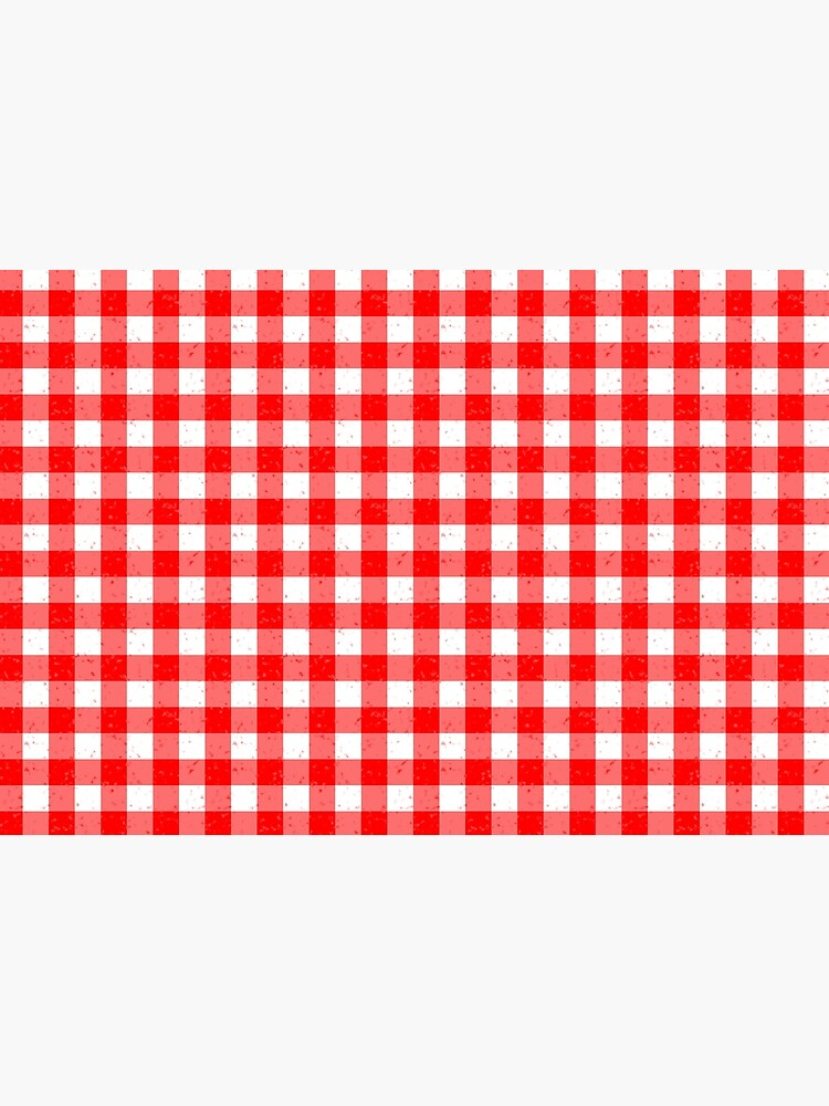 Gingham Red and White Pattern by MarkUK97