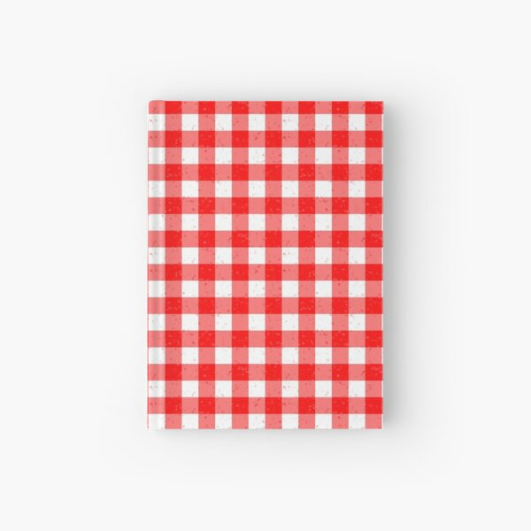 Gingham Red and White Pattern Hardcover Journal