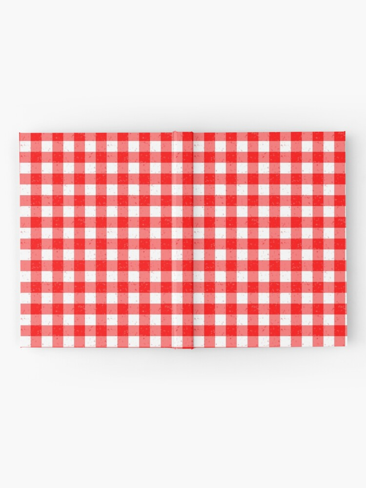 Alternate view of Gingham Red and White Pattern Hardcover Journal