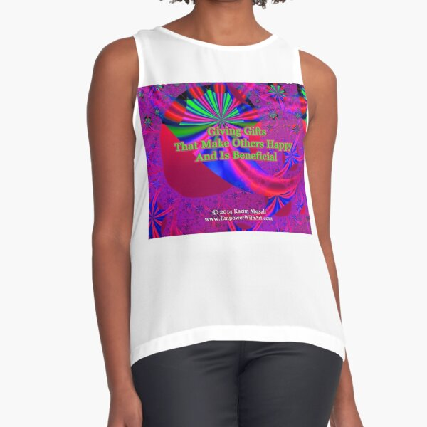 Giving Gifts That Make Others Happy And Is Beneficial Sleeveless Top
