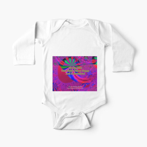 Giving Gifts That Make Others Happy And Is Beneficial Long Sleeve Baby One-Piece