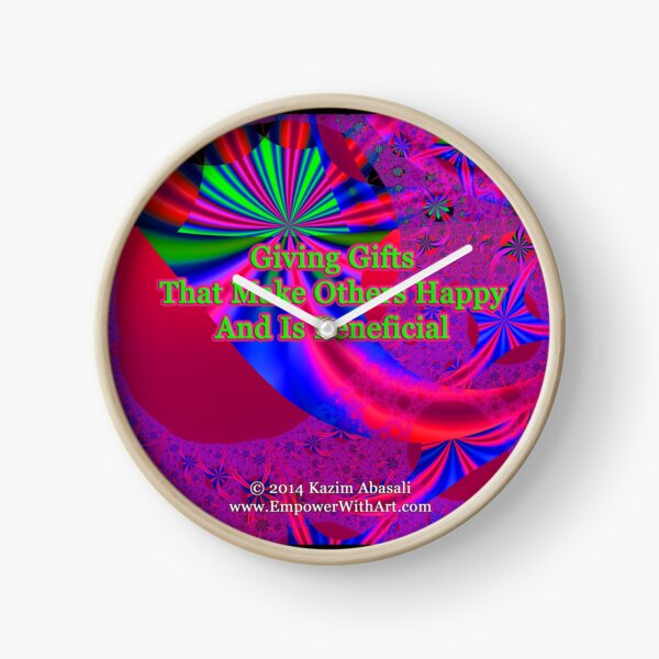 Giving Gifts That Make Others Happy And Is Beneficial Clock