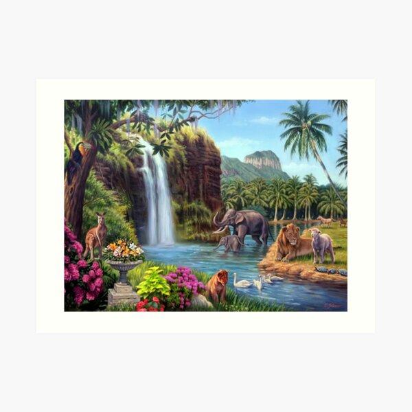 A Paradise Setting Art Print