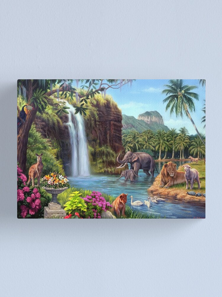 Alternate view of A Paradise Setting Canvas Print