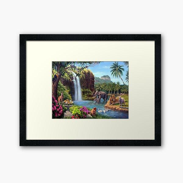 A Paradise Setting Framed Art Print