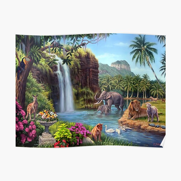 A Paradise Setting Poster