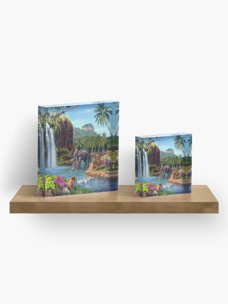 Alternate view of A Paradise Setting Acrylic Block