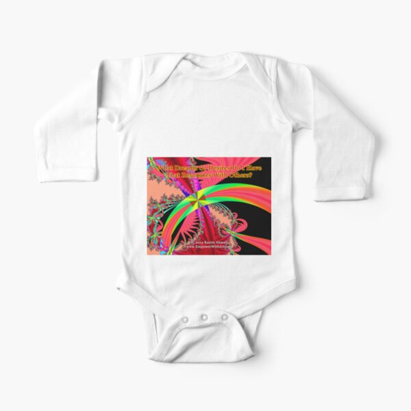 My Dreams And Desires Long Sleeve Baby One-Piece