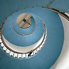 Blue Stairs by Ritva Ikonen