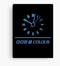 Retro BBC clock  Canvas Print