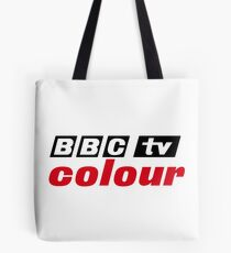 Retro BBC colour logo, as seen at Television Centre Tote Bag