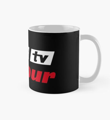 Retro BBC colour logo, as seen at Television Centre (in white) Mug