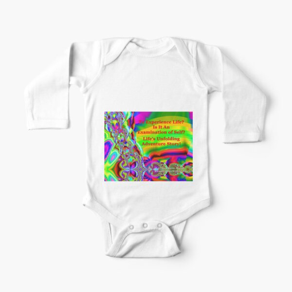 Life's Unfolding Adventure Story Long Sleeve Baby One-Piece