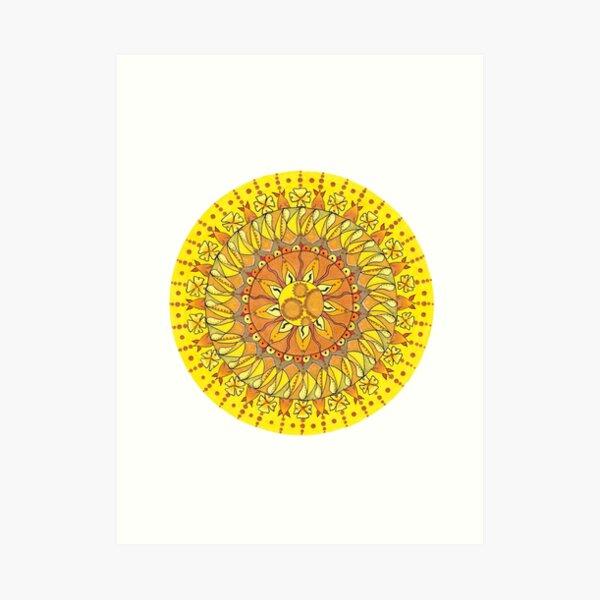Sunlight mandala Art Print