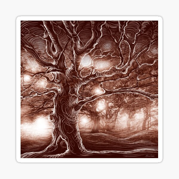 Brown Tree Sticker