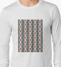 Lines and Floral Long Sleeve T-Shirt