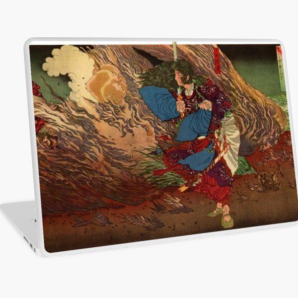 Ukiyo-e print of Samurai on a battlefield Laptop Skin