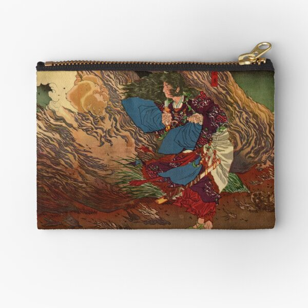 Ukiyo-e print of Samurai on a battlefield Zipper Pouch