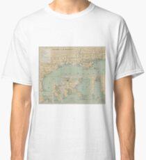 Vintage US-Golf von Mexiko Leuchtturm Karte (1898) Classic T-Shirt