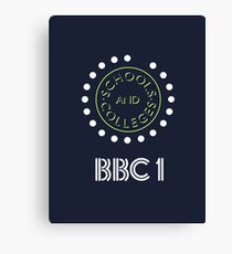 BBC Schools & Colleges clock logo Canvas Print