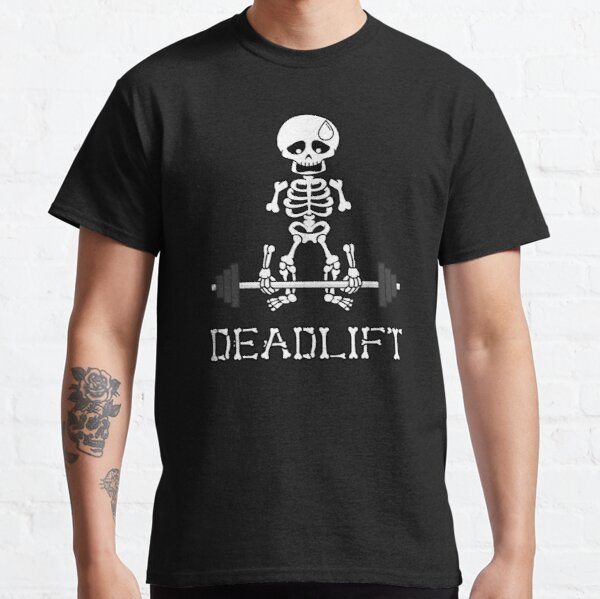 Deadlift Gym Skeleton Classic T-Shirt
