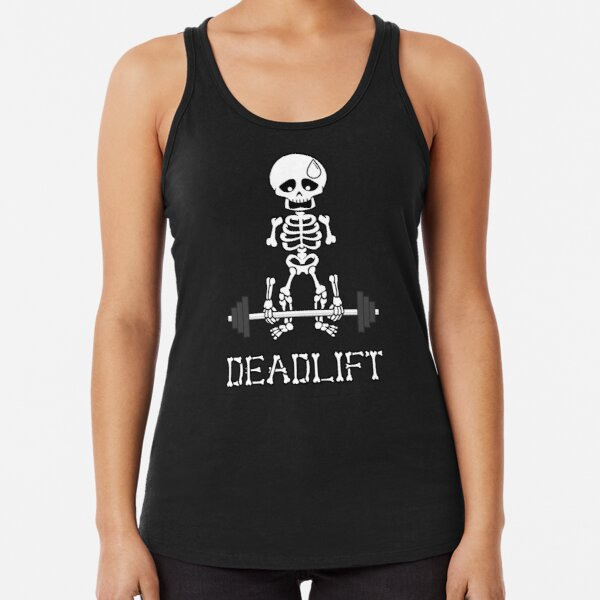 Kreuzheben Gym Skeleton Racerback Tank Top
