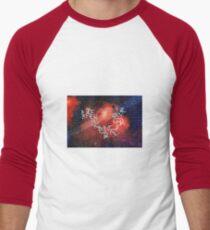 English Calligraphy ABC Design Painting Men's Baseball ¾ T-Shirt