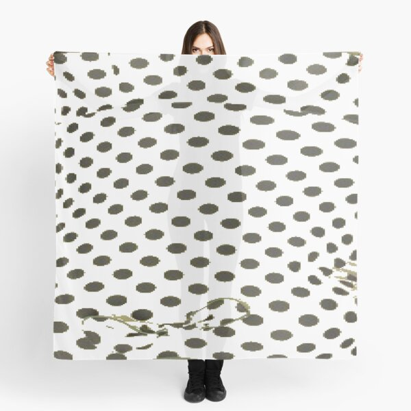Polka dot, Pattern, design, tracery, weave, drawing, figure, picture Scarf