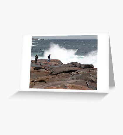 Wave Watchers Greeting Card