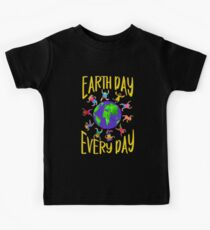 Earth Day Every Day, Save The Planet For Our Children Cute Earthy Hippie #earthday Kids Tee