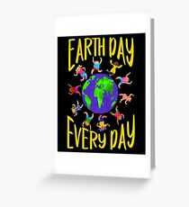 Earth Day Every Day, Save The Planet For Our Children Cute Earthy Hippie #earthday Greeting Card