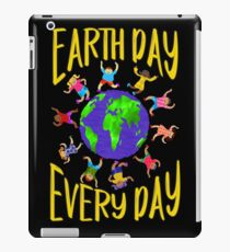 Earth Day Every Day, Save The Planet For Our Children Cute Earthy Hippie #earthday iPad Case/Skin