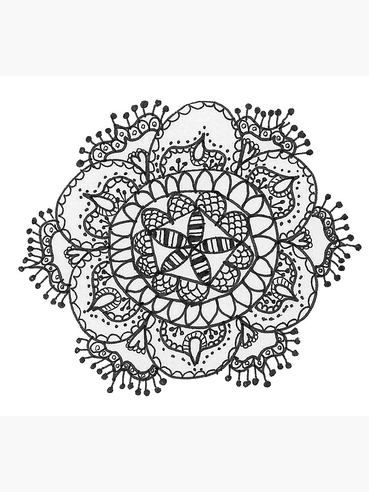 Aesthetic Tumblr Mandala Zentangle Doodle Greeting Card By