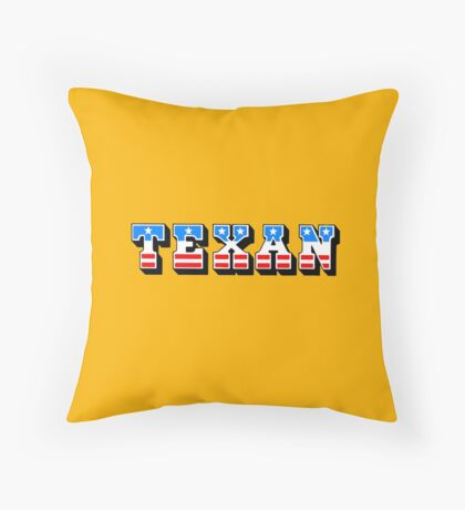 Texan: the mighty chew Throw Pillow