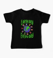Earth Day Every Day, Save The Planet For Our Children Cute Earthy Hippie #earthday Baby Tee