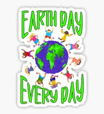 Earth Day Every Day, Save The Planet For Our Children Cute Earthy Hippie #earthday Sticker